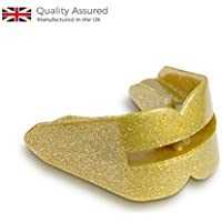 1 x GAME GUARD Double Mouth Guard / Teeth Protector / Gum shield - GOLD SPARKLE - Mouthguard, CE Approved, Boxing, MMA, Sports by Game Guard