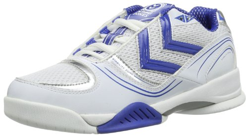 Hummel SPIRIT 60-146-0560, Scarpe sportive indoor unisex adulto Bianco (Weiss (WHITE/PLYMPIAN BLUE/SILVER 0560))