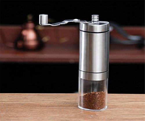 GXSCE Manuelle Kaffeemühle, kleine Kaffeemühle, Edelstahl Kaffeemühle, verstellbare Kaffeemühle, Espresso Kaffeebohne Grinder, einstellbare Salz Pfeffermühle Grinds Bohnen Gewürze gebürstet