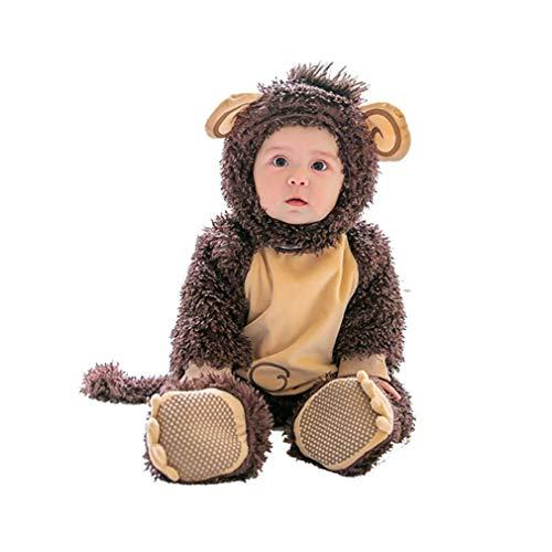 Pagliaccetto carnevale,unisex pagliaccetti bambino inverno autunno jumpsuits halloween carnevale cosplay scimmia
