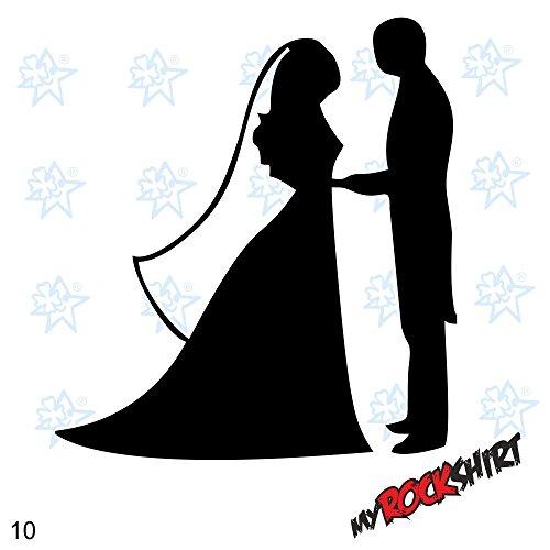 Hochzeitsaufkleber Typ 10 Just Married Autoaufkleber Deko Wandtattoo