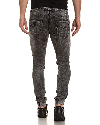 Project X - Faded graue Jeans zerrissen Jogger Mann Grau