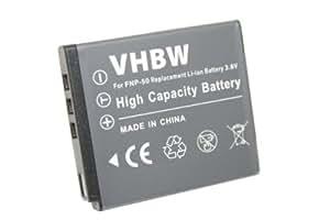 Battery LI-ION compatible with PENTAX Optio S10, S12, VS20, Pentax Q, Q7, Q10 replaces D-Li68, D-Li122