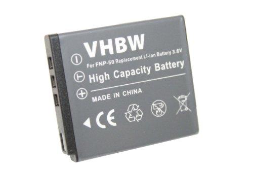 vhbw Kamera Akku für Kodak Easyshare M1033, M1093IS, V1073, V1233, V1253, V1273, M 1033, 1093is wie Fuji NP-50, Kodak Klic-7004.