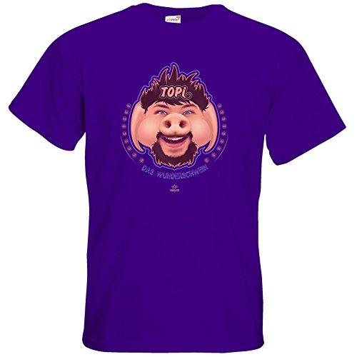 getshirts - Tobinator Official Merchandise - T-Shirt - TOPI Wunderschwein Purple
