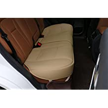 Scalable (124-140cm)back seat cover Car Seat Cover Seat Protector - rear seat bottom (Tan - rear seat)