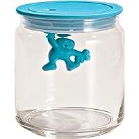 Alessi AMDR04 AZ Gianni - Tarro de vidrio con tapa de plástico, Azul (Aqua