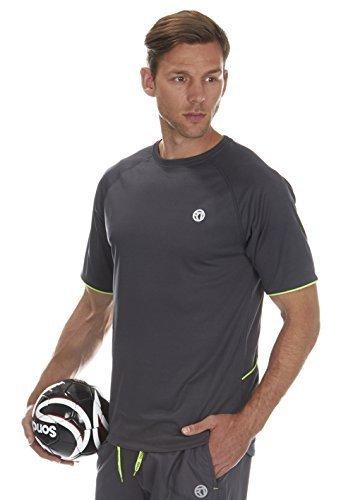 Uomo - Adulti Redtag Active Corto Manica In Esecuzione Abbigliamento Sportivo Top / T-shirt Carbone