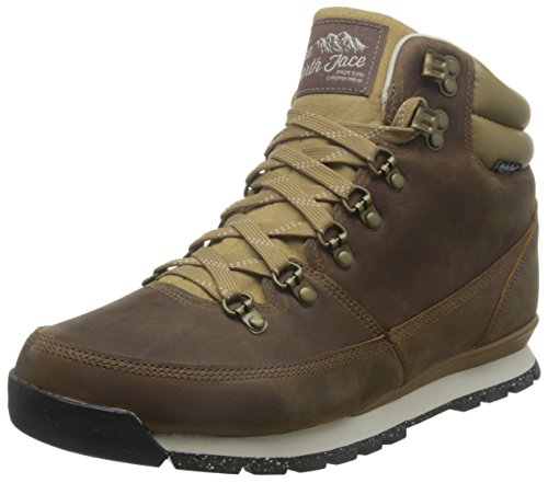 The North Face Herren Back to Berkeley Redux Leather Stiefel, Mehrfarbig (Dijon Brown/Vintage White), 43 EU