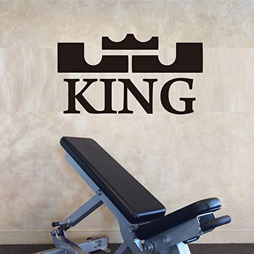 Der König LeBron James Logo Vinyl Aufkleber Wandaufkleber für Wohnzimmer Dekoration Schule Büro Schlafzimmer Dekor in weißem PVC Basketball L 43 cm x 26 cm