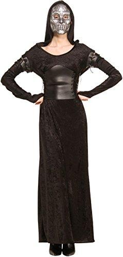 y Potter Todesserin Bellatrix Kostüm - Größe M-L (Uni) (Halloween Usa 2017 Kostüme)