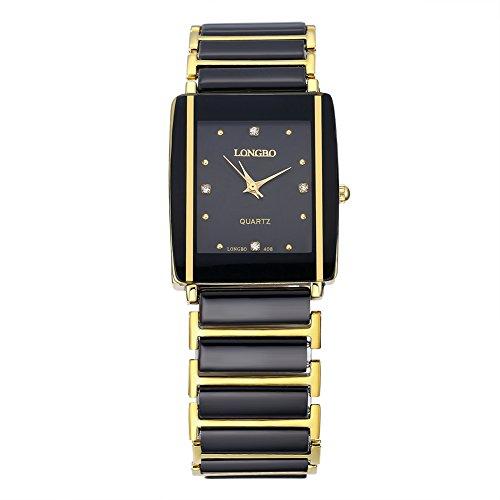 Gold Billig Branded Uhren für M?nner M?nner Mode Casual Quartz Legierung Hardlex Neu mit Tags Alloy Analog 28 * 33Mm Rechteck