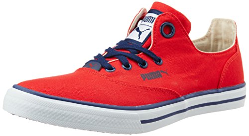 bec2df48a773e8 Puma 36078403 Unisex Limnos Cat 3 Dp High Risk Red White And Peacoat Canvas  Sneakers 8 Uk- Price in India