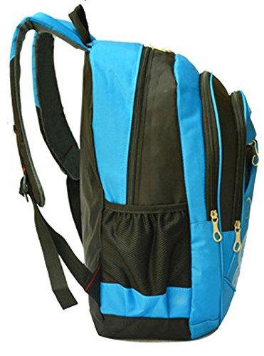 Longzibog Dual verstellbare Schultergurte und Hängeschlaufenband 2016 Neue Maedchen Rucksack Schulranzen Blau