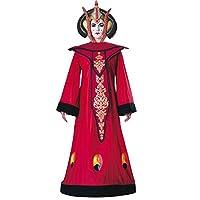 Magnifico costume della regina Amidala™ consiste in un abito lungo con belle finiture e uno splendido copricapo. Costume con licenza ufficiale Star Wars™. Questo costume sarà perfetto per le tue feste in maschera sul tema del cinema (immagine...