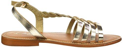 LATELIER TROPEZIEN Sandales Tresse Cote, Spartiates Femme Or (Gold)