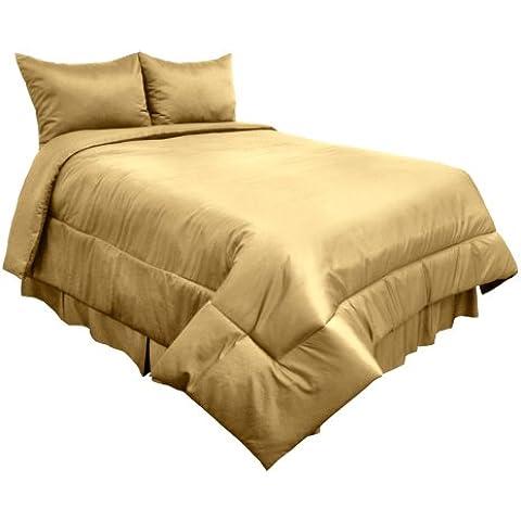 800 hilos Veratex laptone satén de algodón egipcio conjunto edredón King size, trigo