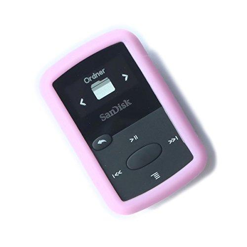 DTS/AC Silikon-Hülle/Bumper für Sansa Clip Jam (pink/rosa) Pink Mp3 Sansa Clip