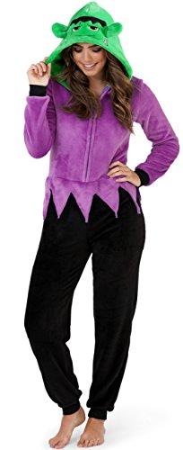 xus 3D Neuheit schauriges Hallowwen schickes Kleid Einteiler Jumpsuit, Erwachsene Monster, EU 40-42 (Monster Onesies Für Erwachsene)
