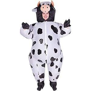 Bodysocks® Aufblasbares Kuh Kostüm für Erwachsene