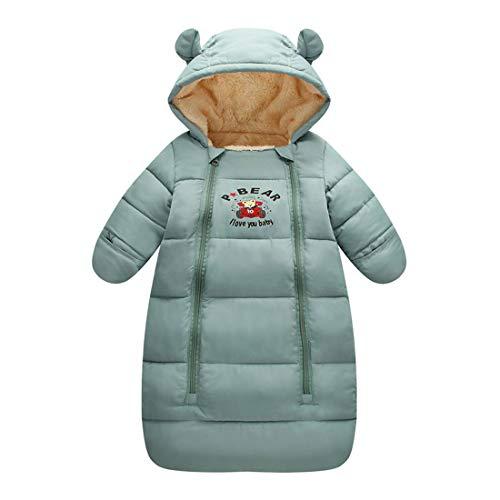 ALLAIBB Kleinkind Baby Winter Schlafsack Cartoon Tier Fleece Füllung Sleeper 0-18M Size 90 (grau) - Fleece Baby Sleeper