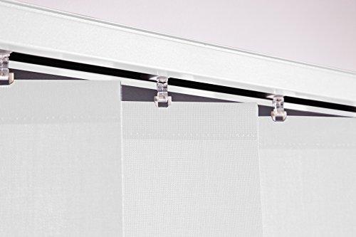 Lamellenvorhang Vertikaljalousie Weiß Lamellenbreite 127 mm Lamellen Fenster Rollo Breite 100 bis 250 cm Länge 150 bis 250 cm Vorhang Flächenvorhang Schiebevorhang Streifenvorhang blickdicht halbtransparent (Breite 110 cm x Höhe 160 cm)
