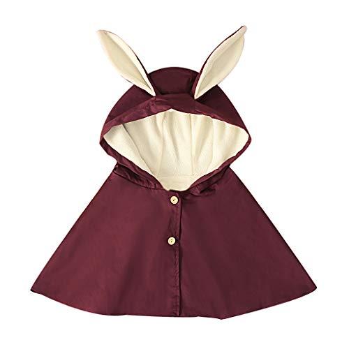 Junior Mädchen Kostüm Halloween - HDUFGJ Mädchen Kaninchen-Ohr-mit Kapuze Mantel-Mantel-beiläufige Kleidung Prinzessin-Kostüm Umhang Strickjacke Pullover Umhang Halloween