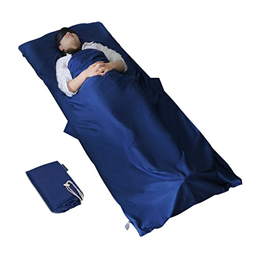 Mycarbon sacco lenzuolo sacco a pelo 100% di cotone 220*90cm lenzuola a sacco da viaggio campeggio sacco letto