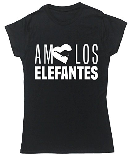 HippoWarehouse AMO LOS ELEFANTES camiseta manga corta ajustada para mujer