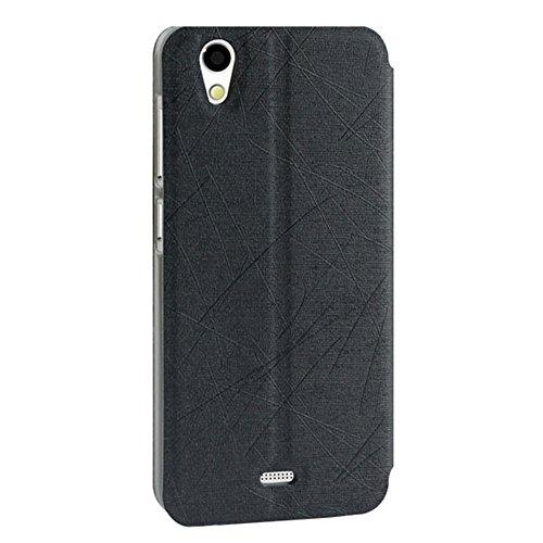 Pudini® Rain Series Flip Cover Stand Case For Gionee F103 4G (Black)