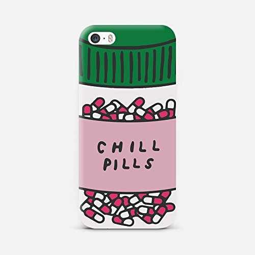 QRIOH iPhone 5/5S, Scratchproof Printed Take A Chill Pill Case for iPhone 5/5S Back Cover Case -1M040616PD508