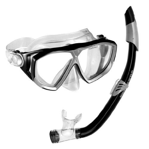 USA Napali/Sea Breeze Divers Maske und Schnorchel, schwarz -