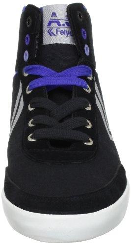 Feiyue A.S High Classic, Baskets mode mixte adulte Noir (0442)
