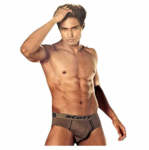 Dixcy Scott Men's Smart Designer Replay Brief Pack of 2 (Size :90 CM)  available at amazon for Rs.180