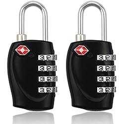 BlueBeach® 2 PCS Candado de viaje para Maletín Seguridad para el equipaje 4 dígitos Combinación Número Candado