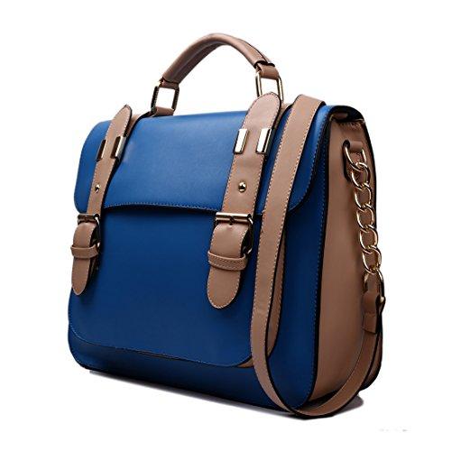 Miss Lulu borsa da donna borsa a tracolla Copertina a pois di marca vintage borsa messenger pelle sintetica scambio di lavoro Borsa da scuola 1521 Navy Gran Sorpresa En Línea qZc9O