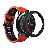 Für HUAMI AMAZFIT Smart Watch Schlanke Rahmen Bunte PC-Gehäusedeckel Schützen Shell (Black)
