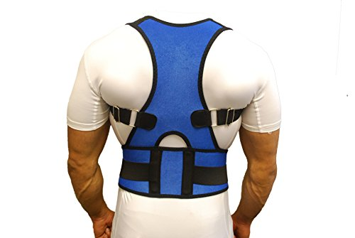 premium-blue-neoprene-breathable-magnetic-posture-corrector-bad-back-shoulder-lumbar-waist-support-b