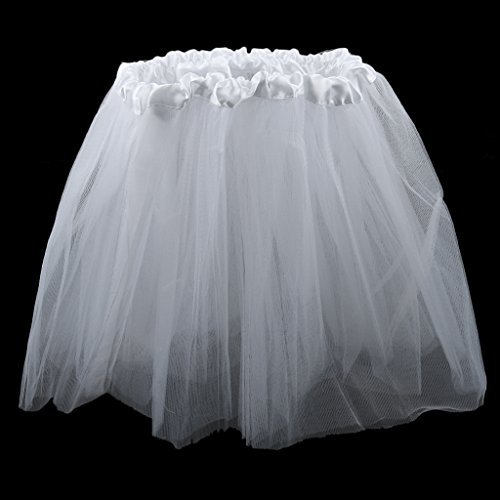 Phenovo Girls Kids White PUre Tutu Princess Mini Skirt Summer Party Dancewear  available at amazon for Rs.285