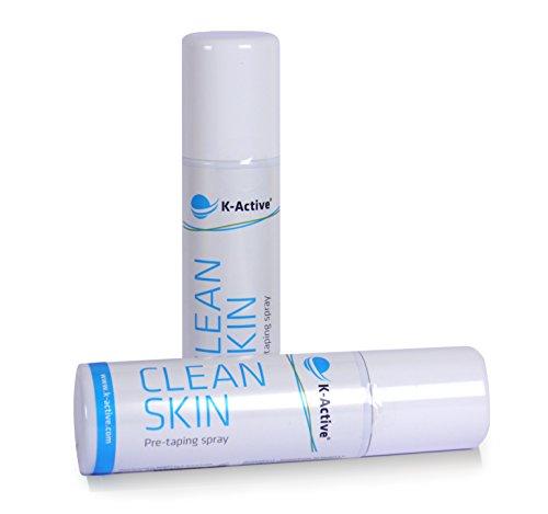 K-Active CleanSkin Spray - optimiert die Haftung bei der Anlage kinesiologischer Tapes -