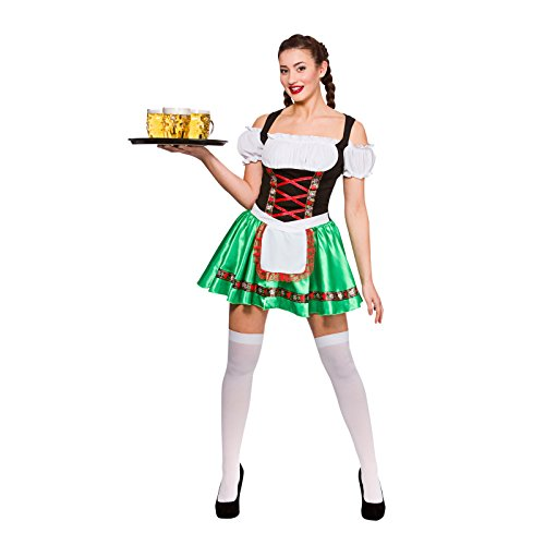 Ladies Oktoberfest Beer Girl Fancy Dress Party Costume Halloween Dirndl Bavarian (Wenches Kostüm Ideen)