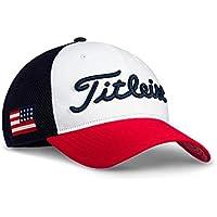 TITLEIST Gorra de Golf de los Hombres (Performance Ball Marker, Tour Performance) (USA Flag Tour Performance Mesh, Tri-Color)