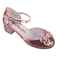 The Sparkle Club Girls Children Dusky Pink Special Occasion Heeled Party Shoes