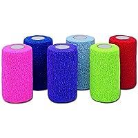 Vet Ecoflex Cohesive Bandages 10cm. Pack x 5 Assorted Colours