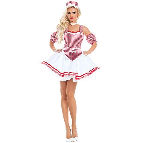 LBFKJ Rollenspiele Halloween-Kostüme, sexy Krankenschwesterkostüme, Rave-Partybiermädchenkostüme, Bühnenkostüme