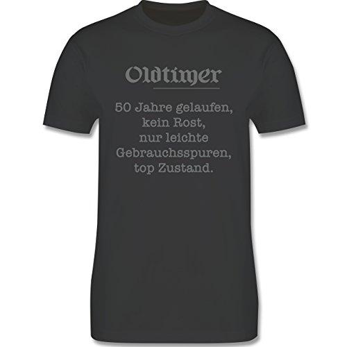 Geburtstag - 50 Jahre Oldtimer Fun Geschenk - Herren Premium T-Shirt Dunkelgrau