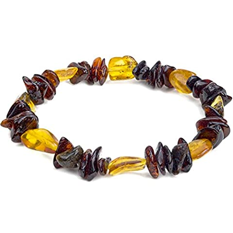 Ambre multicolore Bracelet de perles 17,5 cm
