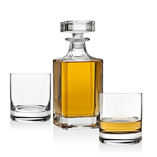 Dekanter-Set für Whiskey Whisky Scotch Bourbon oder Wein, inkl. 2 Glas Whisky Gläser Scotch Dekanter