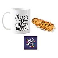 """YaYa Cafeâ""""¢ Holi Sweets Gift Gujia Combo There's A Chance This is Bhaang Mug, Coaster, Kesar Gujiya - 500 gm"""