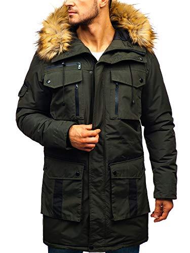 BOLF Herren Winterjacke Steppjacke Sportjacke Reißverschluss Casual Style J.Style 201812 Khaki M [4D4] | 05902646976204